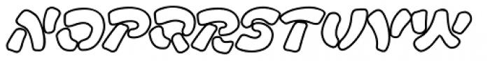 FF Manga Stone OT Outline Italic Font LOWERCASE