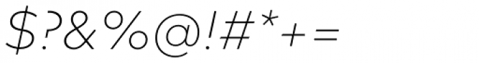FF Mark OT ExtraLight Italic Font OTHER CHARS