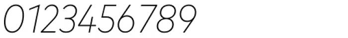 FF Mark OT Narrow Extlight Italic Font OTHER CHARS
