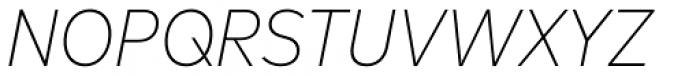 FF Mark OT Narrow Extlight Italic Font UPPERCASE