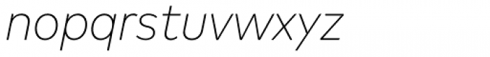 FF Mark OT Narrow Extlight Italic Font LOWERCASE