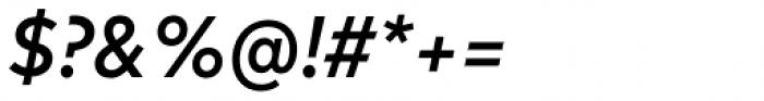 FF Mark OT Narrow Medium Italic Font OTHER CHARS
