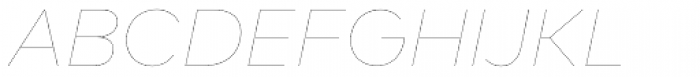 FF Mark Pro Hairline Italic Font UPPERCASE