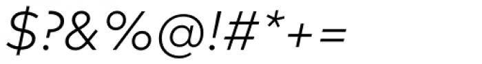 FF Mark Pro Light Italic Font OTHER CHARS