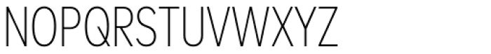 FF Mark W1G Condensed Extra Light Font UPPERCASE
