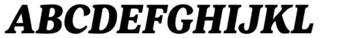 FF Marselis Serif Black Italic Font UPPERCASE