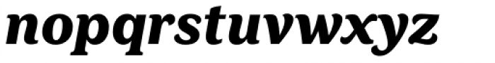 FF Marselis Serif Black Italic Font LOWERCASE