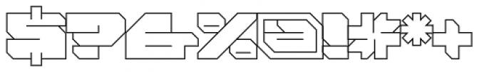 FF Massive 1 Line OT Font OTHER CHARS