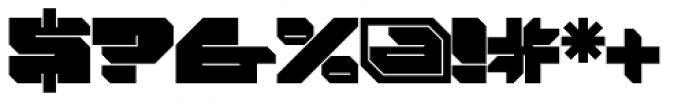 FF Massive 1 Solid OT Font OTHER CHARS