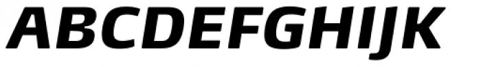FF Max Demi Serif OT Black Italic Font UPPERCASE