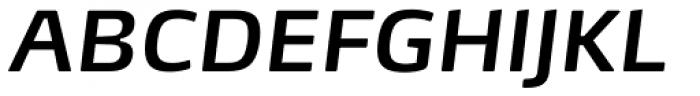FF Max OT DemiBold Italic Font UPPERCASE