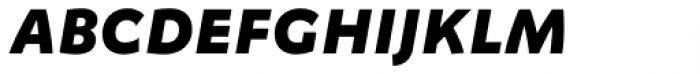 FF Megano Std Bold Italic SC Font LOWERCASE