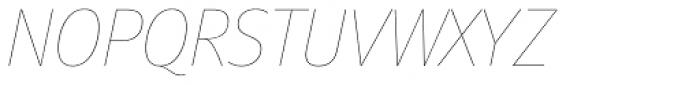 FF Meta Pro Hair Italic Font UPPERCASE