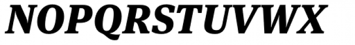 FF Meta Serif OT Black Italic Font UPPERCASE