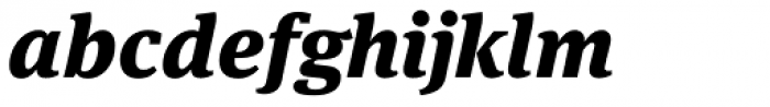 FF Meta Serif OT Black Italic Font LOWERCASE