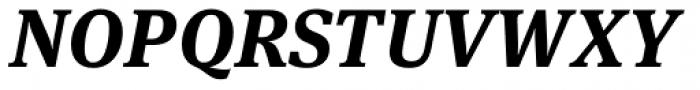 FF Meta Serif OT Bold Italic Font UPPERCASE