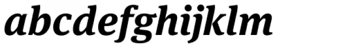 FF Meta Serif OT Bold Italic Font LOWERCASE