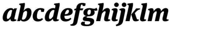 FF Meta Serif OT ExtraBold Italic Font LOWERCASE