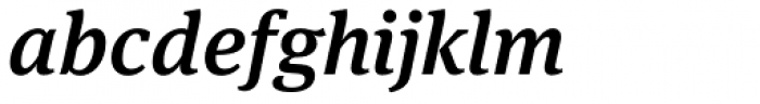 FF Meta Serif OT Medium Italic Font LOWERCASE