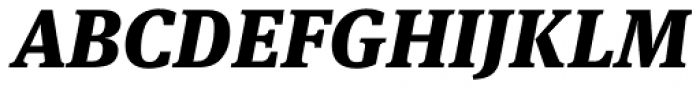 FF Meta Serif Pro Black Italic Font UPPERCASE