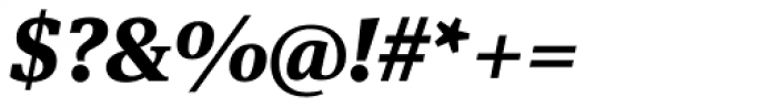 FF Meta Serif Pro ExtraBold Italic Font OTHER CHARS