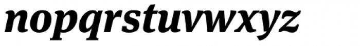 FF Meta Serif Pro ExtraBold Italic Font LOWERCASE