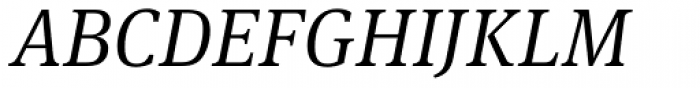 FF Meta Serif Pro Light Italic Font UPPERCASE