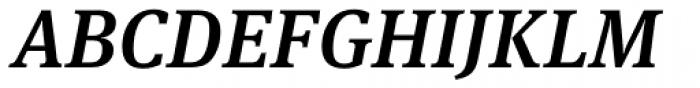 FF Meta Serif Pro Medium Italic Font UPPERCASE