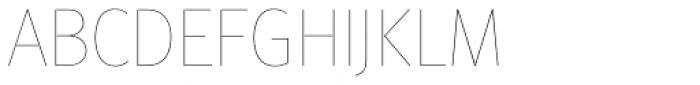 FF Meta Std Hairline Font UPPERCASE