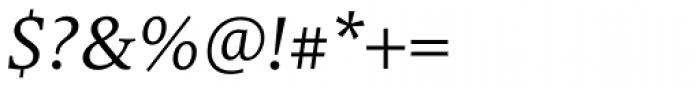 FF Milo Serif OT Italic Font OTHER CHARS
