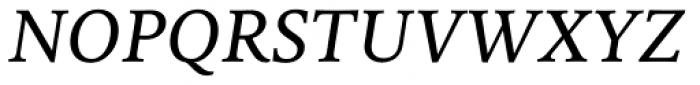 FF Milo Serif OT Text Italic Font UPPERCASE