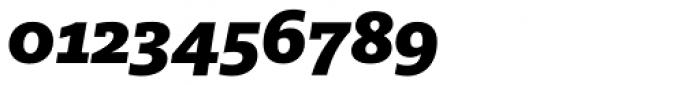 FF Milo Slab OT Black Italic Font OTHER CHARS