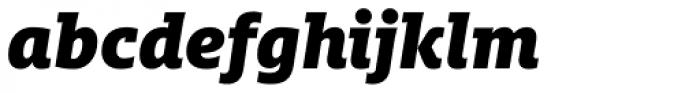 FF Milo Slab OT Black Italic Font LOWERCASE