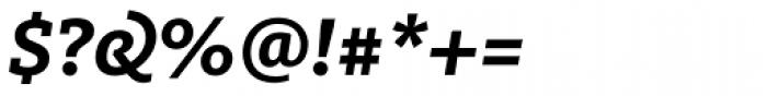 FF Milo Slab OT Bold Italic Font OTHER CHARS