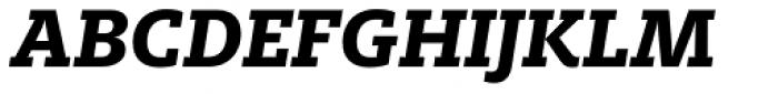 FF Milo Slab OT ExtraBold Italic Font UPPERCASE
