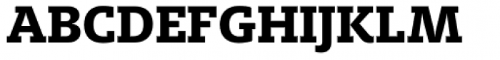 FF Milo Slab OT ExtraBold Font UPPERCASE