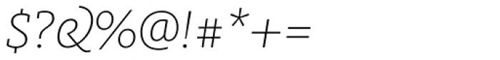 FF Milo Slab OT ExtraLight Italic Font OTHER CHARS