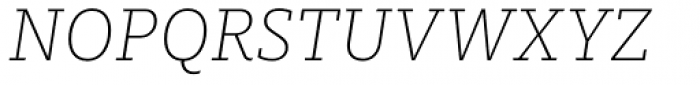 FF Milo Slab OT ExtraLight Italic Font UPPERCASE