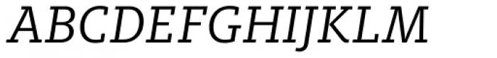FF Milo Slab OT Italic Font UPPERCASE
