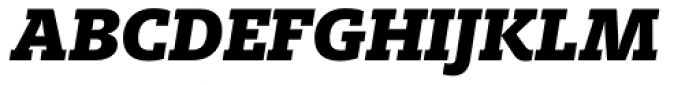 FF Milo Slab Pro Black Italic Font UPPERCASE