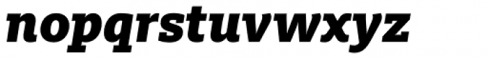 FF Milo Slab Pro Black Italic Font LOWERCASE
