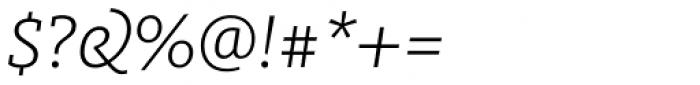 FF Milo Slab Pro Light Italic Font OTHER CHARS