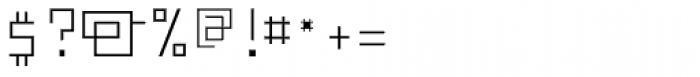 FF Minimum A Light Font OTHER CHARS
