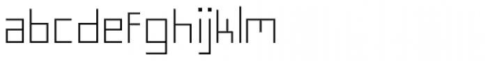 FF Minimum A Light Font LOWERCASE