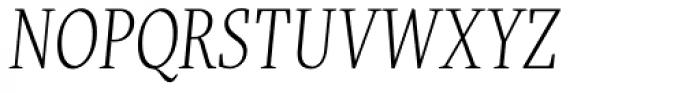 FF More OT Condensed Light Italic Font UPPERCASE