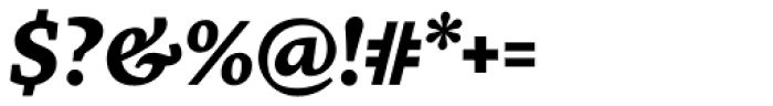FF More OT Wide Bold Italic Font OTHER CHARS
