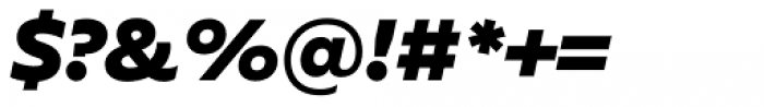 FF Neuwelt Black Italic Font OTHER CHARS