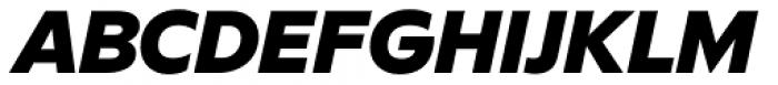 FF Neuwelt Black Italic Font UPPERCASE