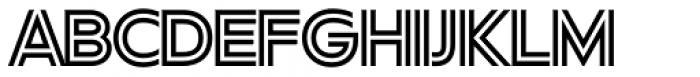 FF Neuwelt Inline Font UPPERCASE