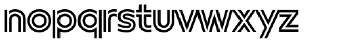 FF Neuwelt Inline Font LOWERCASE